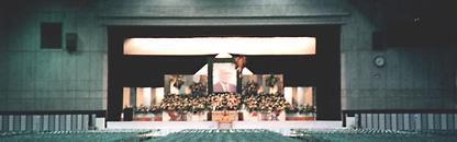 茨城県水戸市の大型会場による大規模な社葬の葬儀施行画像